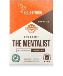 Bulletproof The Mentalist Medium-Dark Roast Pods, Premium Gourmet Organic Clean Coffee, Rainforest Alliance certified, Paleo and Keto Diet, Keurig Compatible (10 Count)
