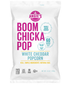 Angie?s BOOMCHICKAPOP White Cheddar Popcorn, 4.5 Ounce Bag, Box of 12