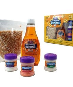 Nostalgia KPK400 Hot Air & Kettle Popcorn Kit, 3 Seasonings, Oil, Popcorn Kernels
