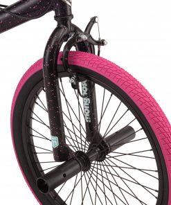 Mongoose FSG BMX Bike, 20-inch wheels, single speed, black / pink