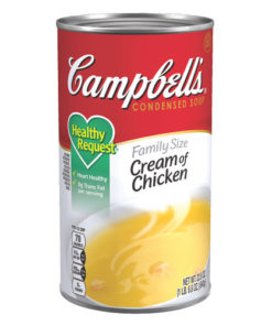 (2 Pack) Campbell's Condensed Healthy Request Family Size Cream of Chicken Soup, 22.6 oz. Can