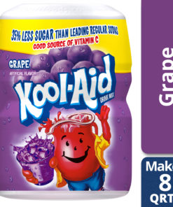 (2 Pack) Kool-Aid Sweetened Grape Powdered Drink Mix, Caffeine Free, 19 oz Jar