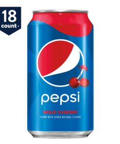 Pepsi Wild Cherry, 12 oz Cans, 18 Count