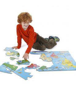 World Map Jumbo Jigsaw Floor Puzzle (33 pieces, 2 x 3 feet)