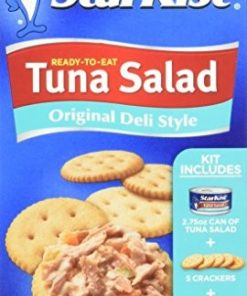 (4 Pack) StarKist Ready-to-Eat Tuna Salad Kit, Original Deli Style, 3.28 Ounce