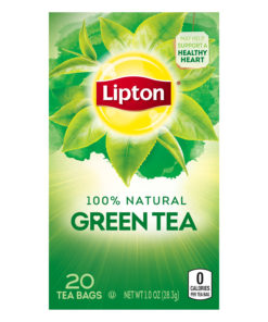 (4 Boxes) Lipton Green Tea Bags Pure 20 ct