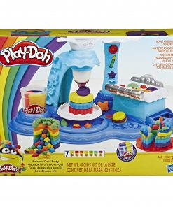 Play-Doh Rainbow Cake Set, 7 Cans of 3-in-1 Rainbow Compound, Walmart Exclusive (14 oz)