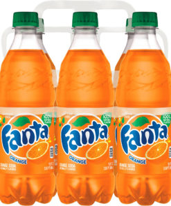 (4 Pack) Fanta Caffeine-Free Soda, Orange, 16.9 Fl Oz, 6 Count