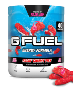 G Fuel Elite Energy and Endurance Powder Tub, Ragin' Gummy Fish, 40 Servings, Inspired by FaZe Jev