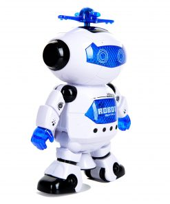 Toysery Electronic Walking Dancing Robot Toys With Music Lightening For Kids Boys Girls Toddlers, Battery Operated Included
