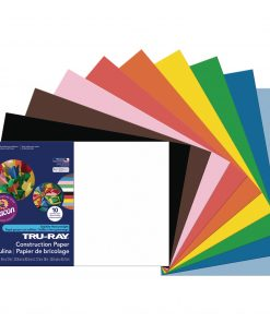 Pacon Tru-Ray Construction Paper, 12″, x 18″, Assorted Colors