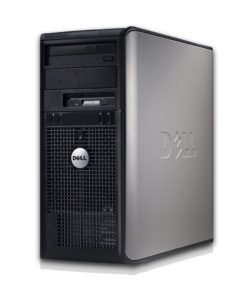 Dell Desktop PC Tower System Windows 10 Intel Core 2 Duo Processor 4GB RAM 160GB Hard Drive DVD Wifi with a 17″ LCD – Refurbished Computer