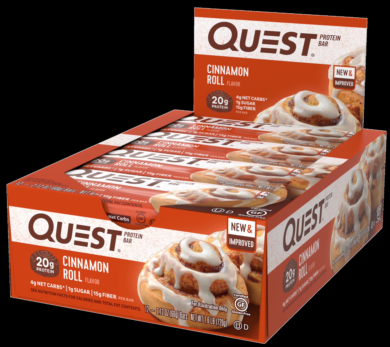 Quest Nutrition Cinnamon Roll Protein Bar, High Protein ...
