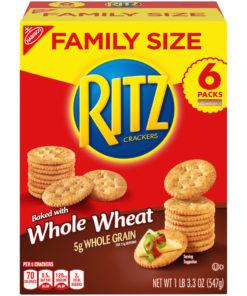 Ritz Crackers, Family Size, Whole Wheat, 19.3 oz