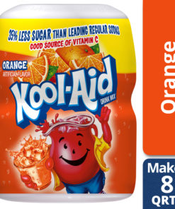 (2 Pack) Kool-Aid Sweetened Orange Powdered Drink Mix, Caffeine Free, 19 oz Jar