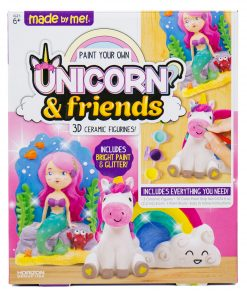 Made by Me Paint Your Own Unicorn &  Friends Figurine Set