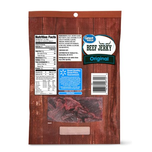 Great Value Original Beef Jerky Jumbo, 5.85 Oz.