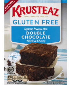 (2 Pack) Krusteaz Gluten Free Double Chocolate Brownie Mix, 20 oz Box