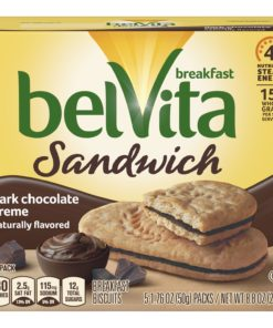 belVita Dark Chocolate Breakfast Biscuits, 5 Packs, 8.8 Oz.