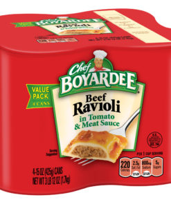 (2 pack) Chef Boyardee Beef Ravioli, 15 oz, 4 Pack