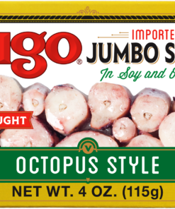 (3 Pack) Vigo Jumbo Squid in Soy and Olive Oil, 4 oz Can