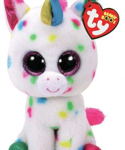 TY Beanie Boos – HARMOINE the Unicorn (Glitter Eyes) (Regular Size – 6 in)