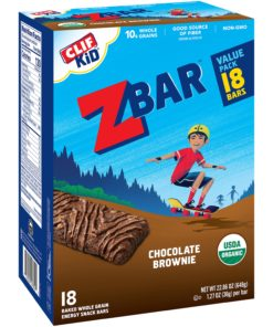 Clif Kid ZBAR – Organic Granola Bars – Chocolate Brownie- 1.27 Ounce Energy Bars – Kids Snacks – 18 Count