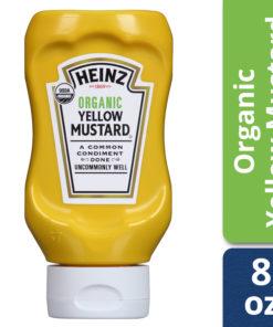 (3 Pack) Heinz Organic Yellow Mustard, 8 oz Bottle