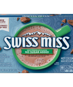 (4 Pack) Swiss Miss Sensible Sweets No Sugar Added Milk Chocolate Hot Cocoa Mix, 8 Count
