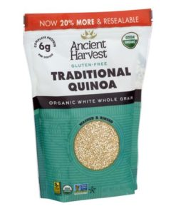 (3 Pack) Ancient Harvest Gluten-Free Traditional Quinoa Organic Grains, 12.0 OZ