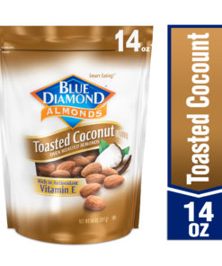Blue Diamond Toasted Coconut Oven Roasted Almonds 14 oz. Bag