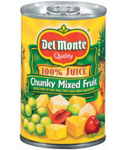 (6 pack) Del Monte Chunky Mixed Fruit in Juice, 15 oz