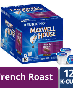 Maxwell House Dark French Roast Coffee K Cup Pods, Caffeinated, 12 ct – 3.7 oz Box