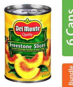 (6 Pack) Del Monte California Sliced Peaches, 15.25 oz