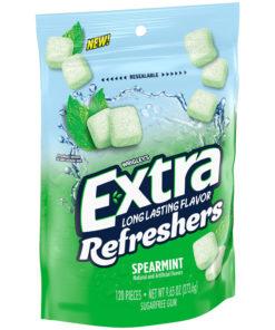 Extra Refreshers Gum, Spearmint, 120 Pieces, 9.65 oz.