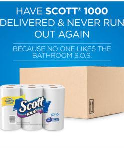Scott 1000 Toilet Paper, 20 Rolls, 20,000 Sheets