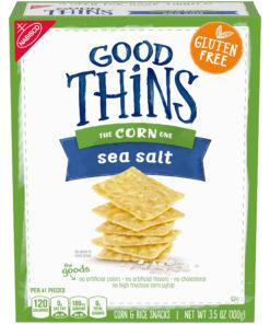 Nabisco Good Thins, Gluten Free Corn & Rice Crackers, Sea Salt, 3.5 Oz.