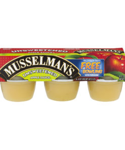 (3 Pack) Musselman's Unsweetened Apple Sauce 6-4 oz. Cups