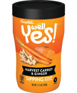 (4 pack) Campbell's Soup, Well Yes!, Harvest Carrot and Ginger, Sipping Soup, 11.1 Ounce Microwavable Container