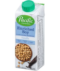 (24 Pack) Pacific Foods Enriched Soy Milk Non-Dairy Beverage, Vanilla, 8 oz