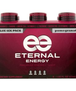 (12 Bottles) Eternal Energy Premium Energy Shot, Pomegranate, 1.93 Fl Oz