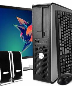 "Dell Optiplex 780 Desktop Intel Core 2 Duo 3.0GHz 4GB RAM 250GB HDD DVD-ROM Windows 10 Home 19"" Display Keyboard Mouse Speaker WiFi"