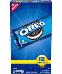 Nabisco Oreo Chocolate Sandwich Cookies, 2.4 Oz., 12 Count