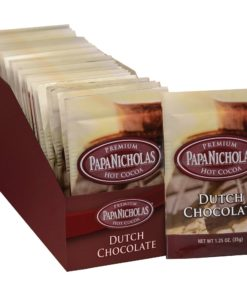 PapaNicholas, PCO79224, Premium Hot Cocoa – Dutch Chocolate, 24 / Carton
