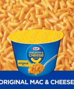 Kraft Easy Mac Original Flavor Macaroni and Cheese Dinner Cups, 8 – 2.5 oz Cups