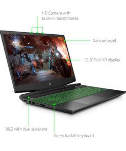 HP Pavilion 15.6″ FHD Gaming Laptop, Intel Core i5-9300H, NVIDIA GeForce GTX 1050 (3 GB GDDR5), 8GB SDRAM, 256GB SSD, Shadow Black, Acid Green, 15-dk0068wm