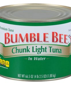 Bumble Bee Chunk Light Tuna in Water, 66.5oz Can