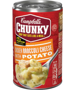 (4 pack) Campbell's Chunky Soup, Chicken Broccoli Cheese with Potato Soup, 18.8 Ounce Can