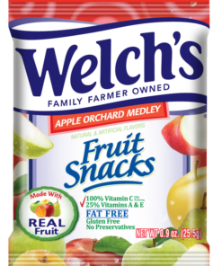 Welch's 279 Welch'S Fruit Snacks Apple Orchard Medley 250-.9 Ounce