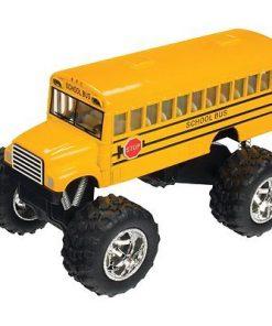 5″ Kinsfun Yellow School Bus Big Wheel Monster Truck Diecast Model Toy (New, No Retail Box)